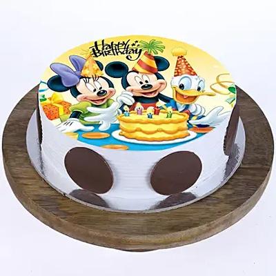1kg Mickey & Minnie photo cake