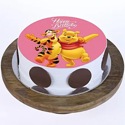 1kg Mickey & Minnie photo cake  to Vizag