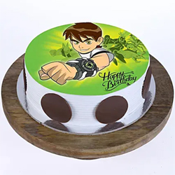1kg Ben 10 Photo Cake  to Kakinada