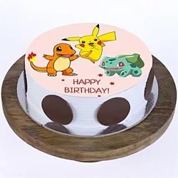 1kg Pokemon Photo Cake to Kakinada