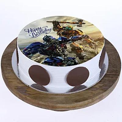 1kg Transformers Photo Cake