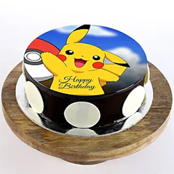1kg Pikachu Photo Cake to Rajahmundry