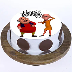 1kg Motu Patlu Photo Cake to Vizag