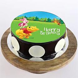 1kg Pooh & Piglet Photo Cake
