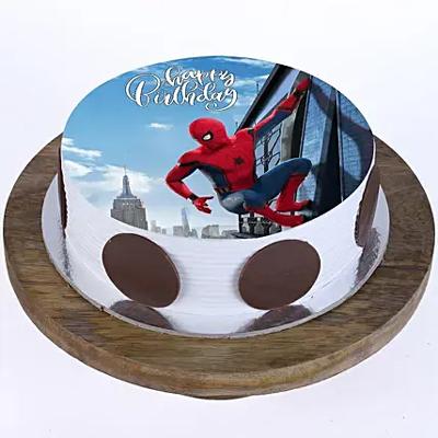 1kg Spiderman Photo Cake