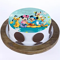 Mickey Clubhouse Photo Cake to Vizag