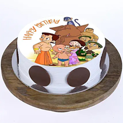 1kg Chhota Bheem  Photo Cake to Kakinada