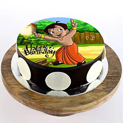 1kg Chota Bheem Photo Cake to Kakinada