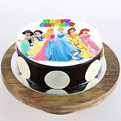 1kg Disney Princess  Photo Cake