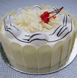 White Forest Cake 1kg  to Kakinada
