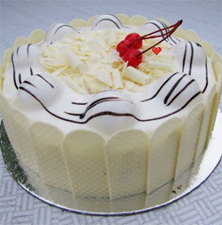 White Forest Cake 1kg  to Vijayawada