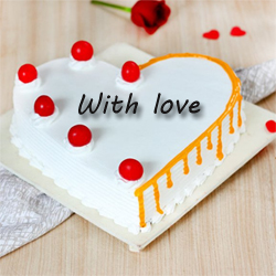 Butter scotch heart 1kg to Vijayawada