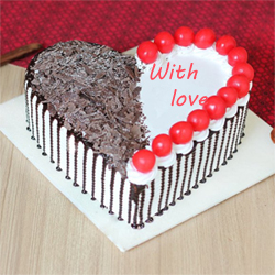 Black forest  Heart 1kg to Vijayawada