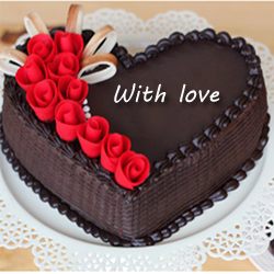 Chocolate  Heart 1kg to Vijayawada
