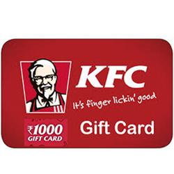 KFC Gift Card 1000/-