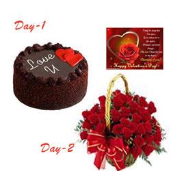Love U Cake and Roses