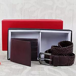 Black Wallet N Belt Combo