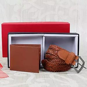 Brown Belt N Wallet Combo