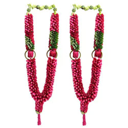 Pair of Rose Petal folded Garland