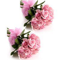 Pink Roses bunches