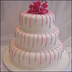 3 Tier Strawberry Cake