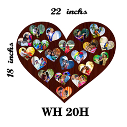 Twenty heart shape photo frame