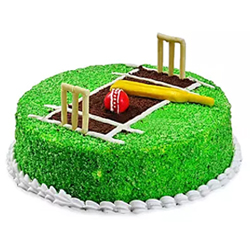 Cricket Pitch Fondant cake to Rajahmundry