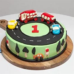 Cars Track Birthday Cake 1.5kg