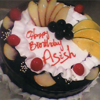 Premium Black forest with fruits to Kakinada