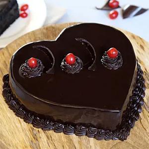 Chocolate Truffle Heart Cake 1/2kg