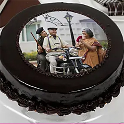 Chocolate Photo Cake1/2kg