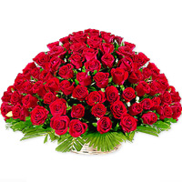50 Roses Basket Flowers to vijayawada