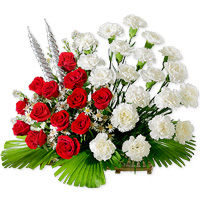 Roses n Carnations Flowers to vijayawada