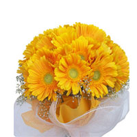 There are probably a million reasons this is such a popular bouquetof ted bright 24 yellow gerberas