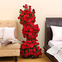 Premium Red Roses Arrangement