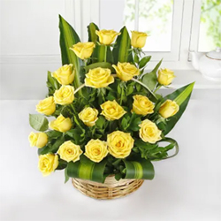 Basket of 20 Yellow Roses to Vizag