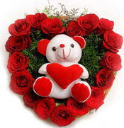 Roses N Soft toy Flowers to vijayawada