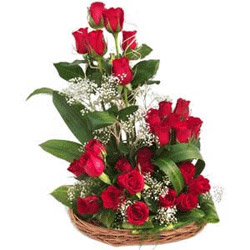 Beautiful Red Roses Flowers to vijayawada