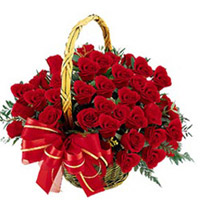 100 red roses Basket Flowers to vijayawada
