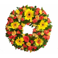 Mixed Gerberas Wreath