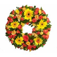 Mixed Gerberas Wreath