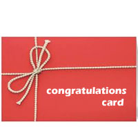Congratulations card  to Rajahmundry