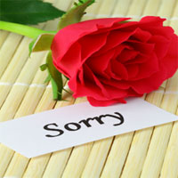 Sorry card  to Rajahmundry