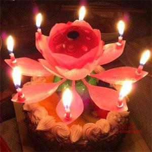 Musical Lotus Candle