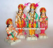 This hand crafted piece of Ram Darbar is made of Polyresin and is tastefully decorated with attractive colors and stones. Ram Darbar is attributed as a Eternal symbol of Human Ideals