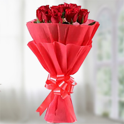 Red roses bunch  to Rajahmundry