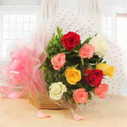This bouquet clipping 10 mixed roses together is a perfect representation of your love Mother's Day