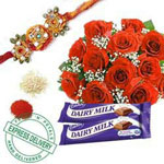 Rakhi With Roses to Rajahmundry