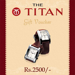 Titan Gift Vouchers Rs.2500/-