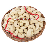 Cashews Basket With Rakhi